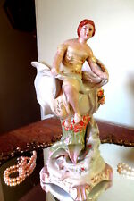 Antique Porcelain Center Piece Figural Vase