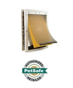 PetSafe Extreme Weather Pet Door White, 3 Sizes Small, Medium, Large