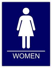 Donne bagno Women Bathroom Frauen Badezimmer etichetta sticker 11cm x 14cm