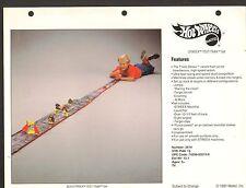 1991 VINTAGE TOY AD SHEET #757 - MATTEL HOT WHEELS - STREEX TEST TRAX SET