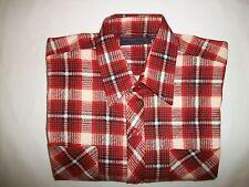 Raymond Chemise Men's Plaid Casual Dress Long Sleeve Shirt - Size M