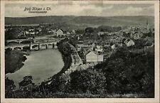 Bad Kösen in Thüringen Ansichtskarte ~1920/30 Gesamtansicht mit Fluß Brücke Wald