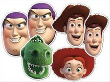 Toy Story variété Six6 Paquet Amusant Disney CARTE Masques De Visage De Fête