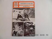 CARTE FICHE CINEMA 1941 L'ASSASSINAT DU PERE NOEL Harry Baur Renée Faure