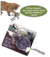 PLAY-N-SQUEAK Backyard Bunny Catnip Cat Toy with Electronic Squeaking Sound