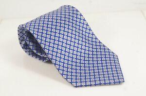 Stefano Ricci Classic Dark Blue w/ Gray & White Plaid Luxury Necktie