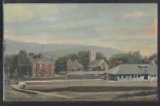 Postcard GREAT BARRINGTON Massachusetts/MA  Railroad Depot & Churches 1907