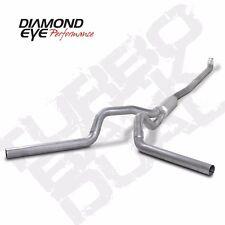 "Diamond Eye 4"" ALUM - DOWN PIPE BACK DUAL CHEVY GMC 6.6L 2001-2007 # K4116A"