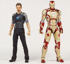 BANDAI S.H.Figuarts Tony Stark with Powered Stage & IRONMAN Mark 42 figure set