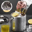 Stainless Steel Ice Bucket Double-Layer Hollow Bar Beer Wine Barrel