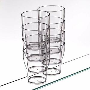 AIOS 6x Reusable Water Cooler Cups Unbreakable Dishwasher Safe Stackable)
