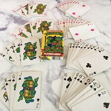 Vintage Deck of Teenage Mutant Ninja Turtles Playing Cards 1990 Complete
