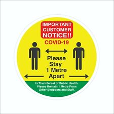 Please Stay 1 Metre Apart Sign Social Distancing Floor Stickers Waterproof