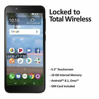 Total Wireless TCL LX 4G LTE Prepaid Cell Phone