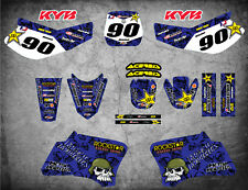 Full  Custom Graphic Kit METAL Yamaha TTR 90 - 2000 - 2007 stickers decals