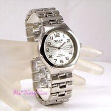 Relojes de pulsera de plata resistente al agua para hombre