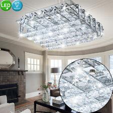 Design LED Decken Leuchte Wohn Ess Zimmer Kristall Lampe Stäbe Flur Strahler