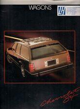 CHEVROLET STATION WAGON 1984 Stati Uniti Mercato Opuscolo Cavalier Celebrity Caprice