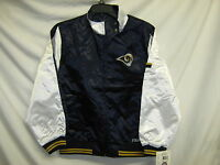 St. Louis Rams NFL Youth Light Weight Satin Jacket Navy White Medium 10/12 IR*