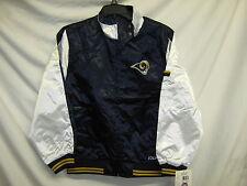 St. Louis Rams NFL Youth Light Weight Satin Jacket Navy White Medium 10/12 IR*