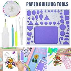 Paper Quilling Tools Set Template Mould Board Tweezer Needles Pen Kit DIY