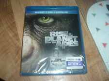 Rise Of The Planet Of The Apes Blu Ray + DVD + HD New GO APE!!! GLOBAL SHIPPING