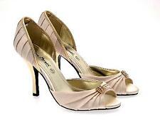 Para mujeres Zapatos de Boda Diamante Satén Peeptoe Zapatos Tacón Alto Sandalias Damas Nupcial