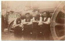 More details for postcard traction engine & young workmen dorset w.j. masters real photo weymouth