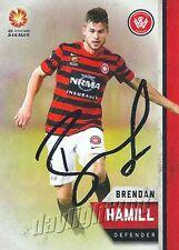 ✺Signed✺ 2015 2016 WESTERN SYDNEY WANDERERS A-League Card BRENDAN HAMILL