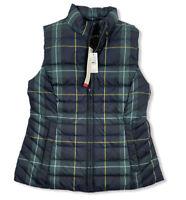NWT Talbots Petites Plaid Tartan Vest Sleeveless Jacket Sz P The Puffer $139