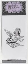 Winged Frog Cling Rubber Stamp Paper Parachute New star stripe folk art angel