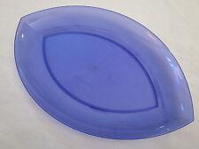 NEW Tupperware Sheerly Elegant Acrylic Serving Tray / Platter Blue 5330A-2