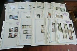 BRITISH COMMONWEALTH - FINE COLLECTION OF 100 SETS IN GUTTER PAIRS- ALL FINE MNH