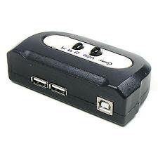 2 Port USB 2.0 Manual Sharing Switch BOX Printer Scanner 2:1 2A 1B SELECTOR LC