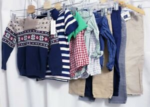 Lot of 11 Janie and Jack Boys 4T Sweater, Polos, Pants, Button Up