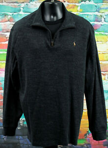 Polo Ralph Lauren Mens 1/4 Zip Estate Rib Sweatshirt Size XXL, 2X, 2XL