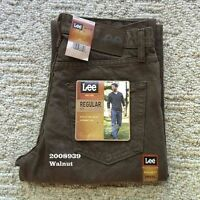 NWT Lee Men's Regular Fit Straight Leg Jeans Denim Walnut  2008939 All Sizes NEW