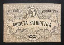 venezia moneta patriottica 5 lire 1848 taglietti LOTTO 629