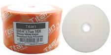 600 Titan Brand 16X Glossy White Inkjet HUB Printable DVD-R DVDR Disc 4.7GB