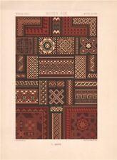 RACINET ORNEMENT POLYCHROME 37 Medieval decorative arts patterns motifs c1885