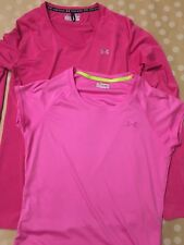 UNDER ARMOUR Women's LOT Size Small Pink Shirt Top Workout Fitness