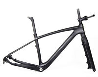 "29er Carbon Frame Mountain Bike Fork Handlebar Stem UD Matt BSA MTB 21"" XL"