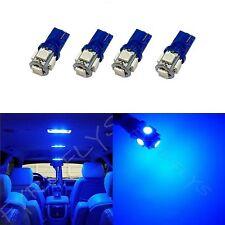 4x Blue T10 168 194 2825 W5W 5 SMD LED Dome Map Cargo 4xM2