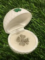 Lucky Golfing Golf Ball Marker Good Luck 4-leaf Clover's Cut Coin Half-Dollar🍀