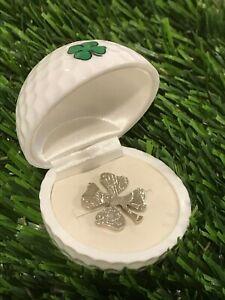 Lucky Golfing Golf Ball Marker Good Luck 4-leaf Clover's Cut Coin Half-Dollar🍀