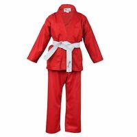Red Children/'s Karate Suit Free White Belt Kids Karate suit