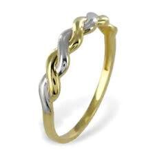ECHT GOLD *** Zopf Ring Bicolor Größenauswahl