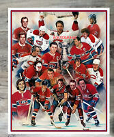 NHL Montreal Canadiens Tribute Hall of Famers Color 8 X 10 Photo