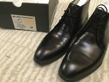 Steptronic Mens Black Leather Fortune Chukka Boots Lace Up Size 7 41 Free UK P&P