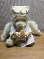 """Disney Winnie The Pooh Plush White Angel Soft Toy Rare Teddy Collectable 7"""" Star"""